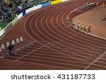 athletics professional race on... | Shutterstock . vector #431187733