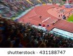 professional athlete on stadium ... | Shutterstock . vector #431188747