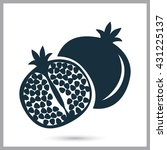 pomegranate icon on the... | Shutterstock .eps vector #431225137