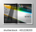 brochure template  flyer design ... | Shutterstock .eps vector #431228203