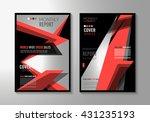 brochure template  flyer design ... | Shutterstock . vector #431235193