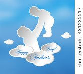 happy father's day poster or... | Shutterstock .eps vector #431235517