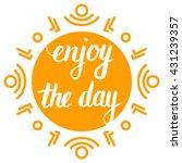 modern brush lettering.... | Shutterstock .eps vector #431239357