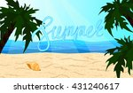 the word summer on the beach... | Shutterstock .eps vector #431240617