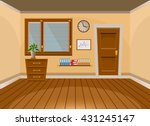 cartoon flat vector interior... | Shutterstock .eps vector #431245147