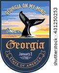 georgia state emblem  sunrise... | Shutterstock .eps vector #431250253