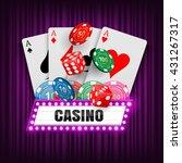 casino background. vector | Shutterstock .eps vector #431267317