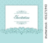 vintage invitation template... | Shutterstock . vector #431271943