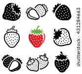 strawberry icon collection  ... | Shutterstock .eps vector #431284663