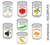 vector illustration canned food ... | Shutterstock .eps vector #431289193