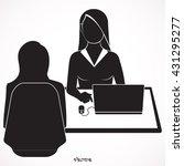 pretty businesswoman having a... | Shutterstock .eps vector #431295277