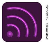 3d line neon wi fi web icon ...