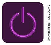 3d line neon power web icon ...