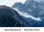 glacier ice path on the top of... | Shutterstock . vector #431301343