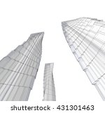 abstract architecture  3d... | Shutterstock . vector #431301463
