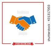 handshake icon vector... | Shutterstock .eps vector #431317003