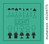 flat set of lamps | Shutterstock .eps vector #431345773