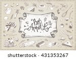 calligraphic inscription   bon... | Shutterstock .eps vector #431353267