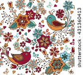 colorful seamless pattern with... | Shutterstock .eps vector #431360413