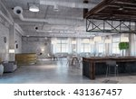 elegant office interior | Shutterstock . vector #431367457