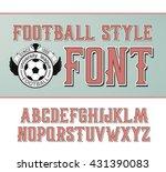 vector label font  football... | Shutterstock .eps vector #431390083