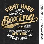 vintage boxing vector... | Shutterstock .eps vector #431392063