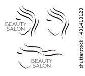 beautiful woman vector logo... | Shutterstock .eps vector #431413123