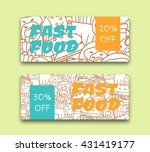 vector illustration of food... | Shutterstock .eps vector #431419177