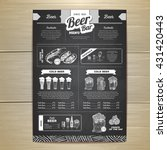 vintage chalk drawing beer menu ... | Shutterstock .eps vector #431420443