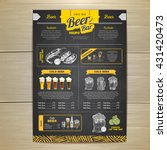 vintage chalk drawing beer menu ... | Shutterstock .eps vector #431420473