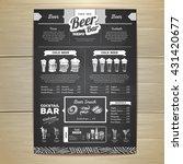 vintage chalk drawing beer menu ... | Shutterstock .eps vector #431420677