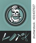 vector black and white emblem...   Shutterstock .eps vector #431437027