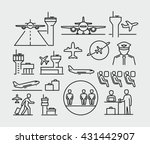 airport vector icon  | Shutterstock .eps vector #431442907