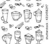 sketch seamless pattern of... | Shutterstock .eps vector #431458297