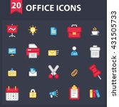 office icon set | Shutterstock . vector #431505733