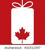 tag canada day card in vector...