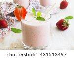 photos milkshake with... | Shutterstock . vector #431513497