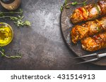 Grill Food Background With...