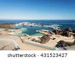 volcanic lava swimming pool at... | Shutterstock . vector #431523427