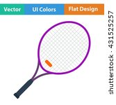tennis racket icon. flat design....