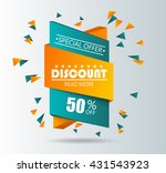 sale sticker. special offer... | Shutterstock .eps vector #431543923