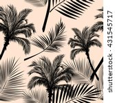 leaves of palm tree. seamless... | Shutterstock .eps vector #431545717