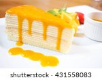 Crepe Cake Bakery Piece With...