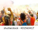 dancing people no the annual... | Shutterstock . vector #431563417