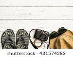summer holiday background ...   Shutterstock . vector #431574283