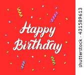 happy birthday hand lettering... | Shutterstock .eps vector #431589613