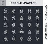 man s and women s pictogram. ... | Shutterstock .eps vector #431590627