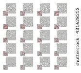 big set of vector labyrinths | Shutterstock .eps vector #431628253