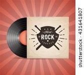 hard rock. vinyl records. retro ... | Shutterstock .eps vector #431641807