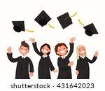 group of university graduates... | Shutterstock .eps vector #431642023